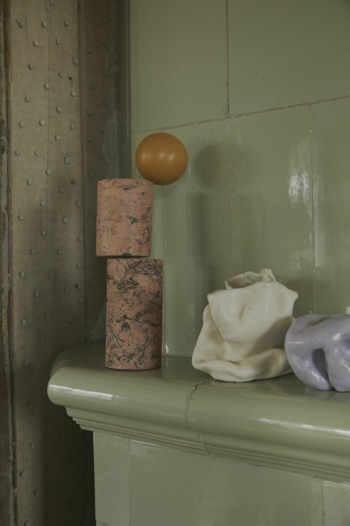 Malou Palmqvist skulpturer spiselkrans