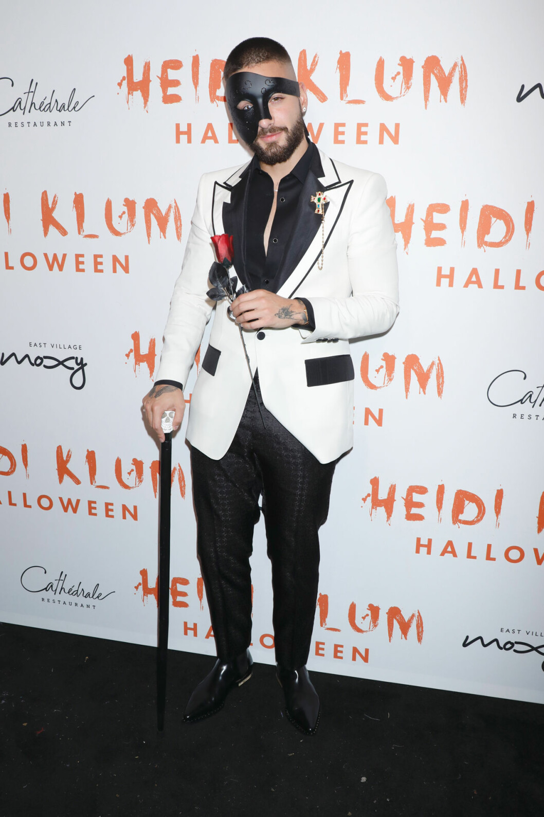 Maluma på Heidi Klums halloweenfest 2019