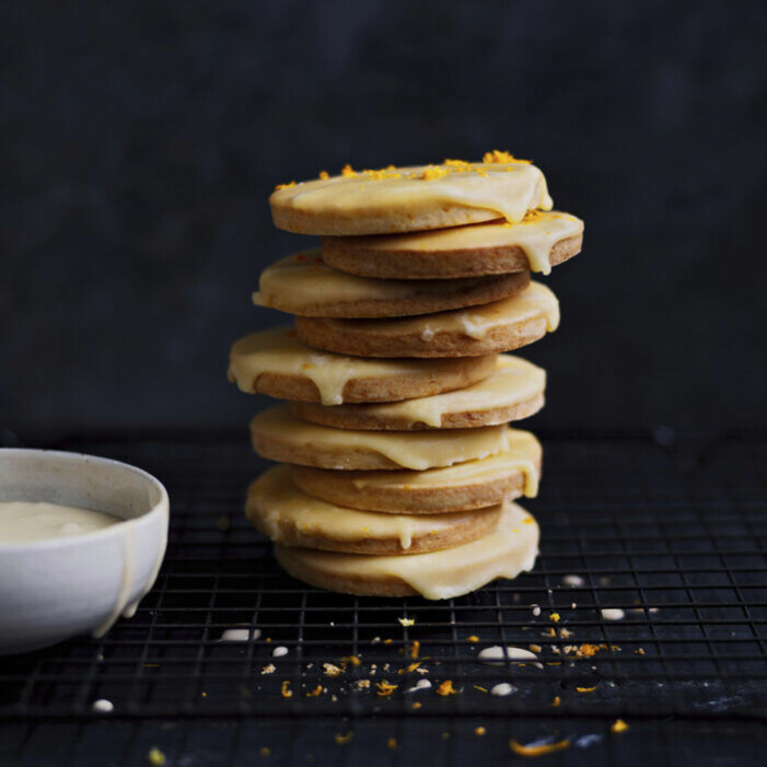 Recept på mandaringlaserade småkakor