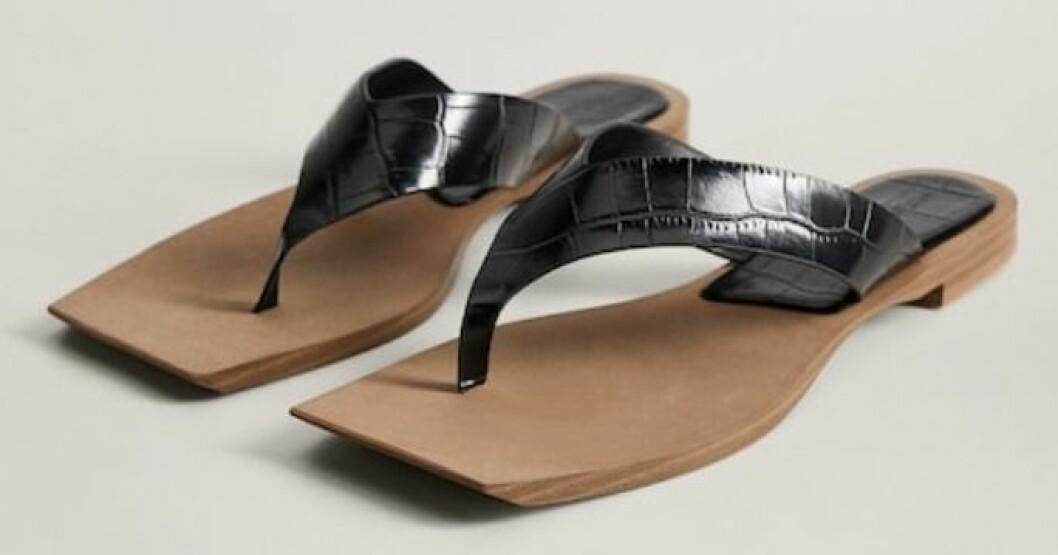Sandaler från Mango med dekorativa remmar och kantig framkant.