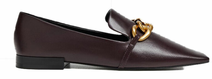 Svarta loafers från Mango med dekorativ och chunky kedja som detalj