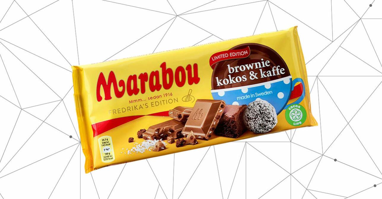 marabou med smak av brownie, kokos och kaffe