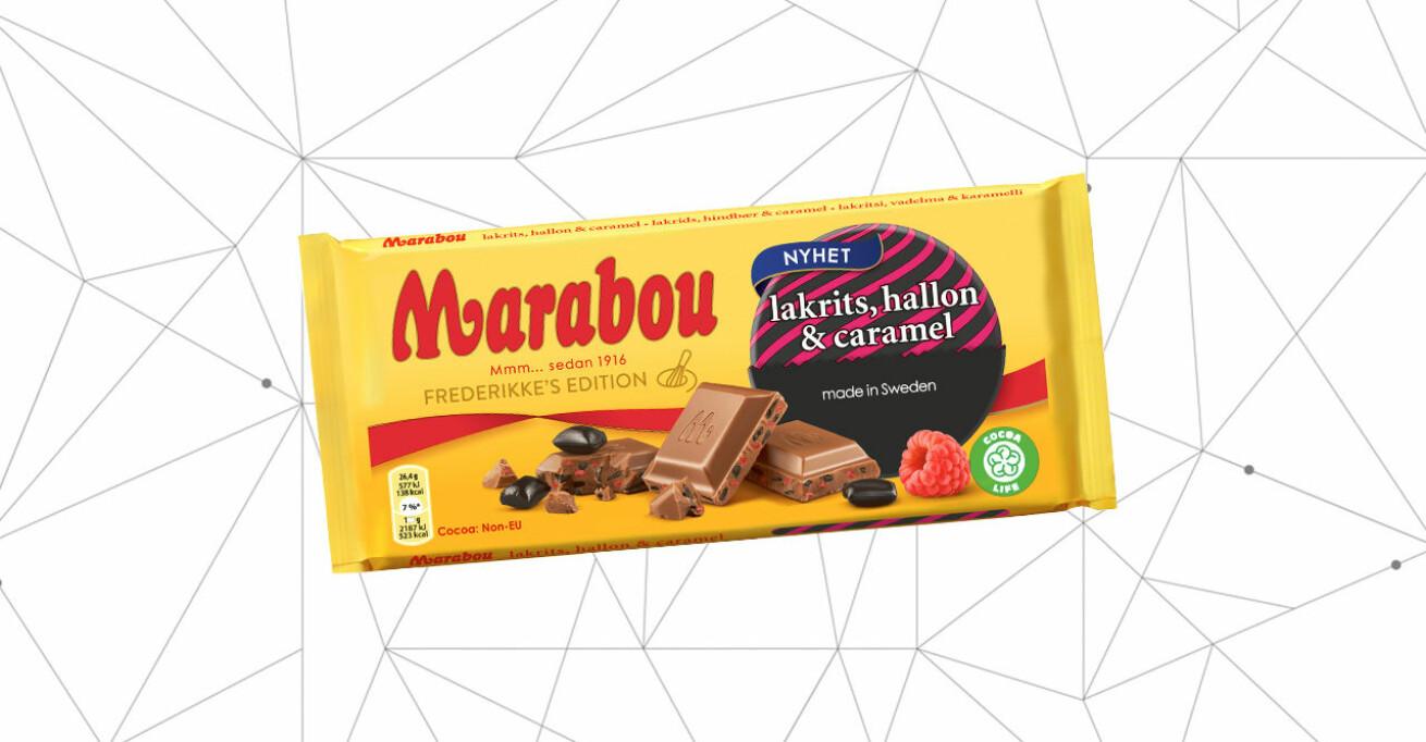 Marabou lakrits, hallon, caramel