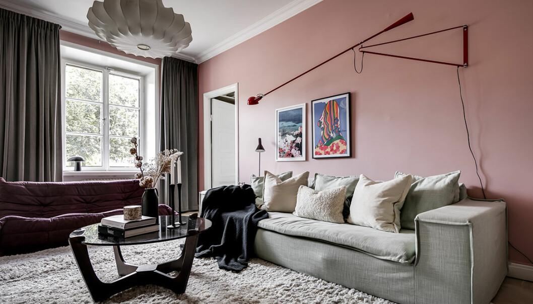 Margaux säljer sin lägenhet, bild på vardagsrummet