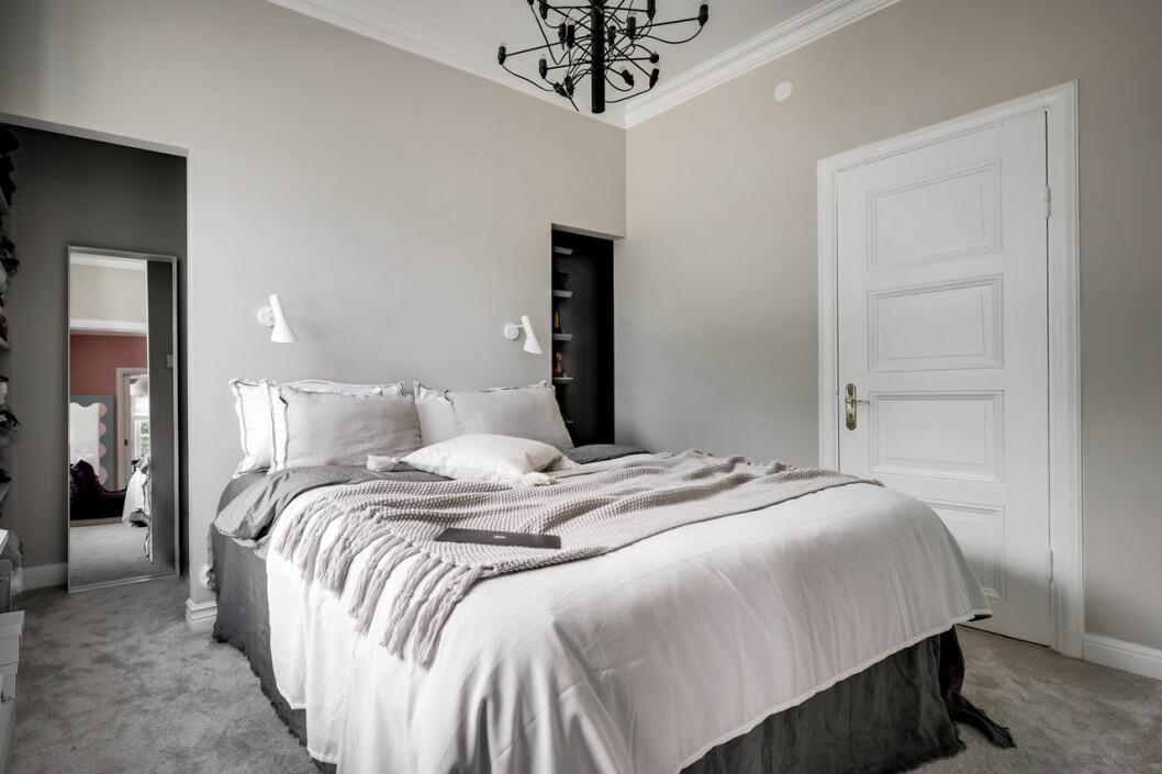 Sovrummet i Margaux lägenhet