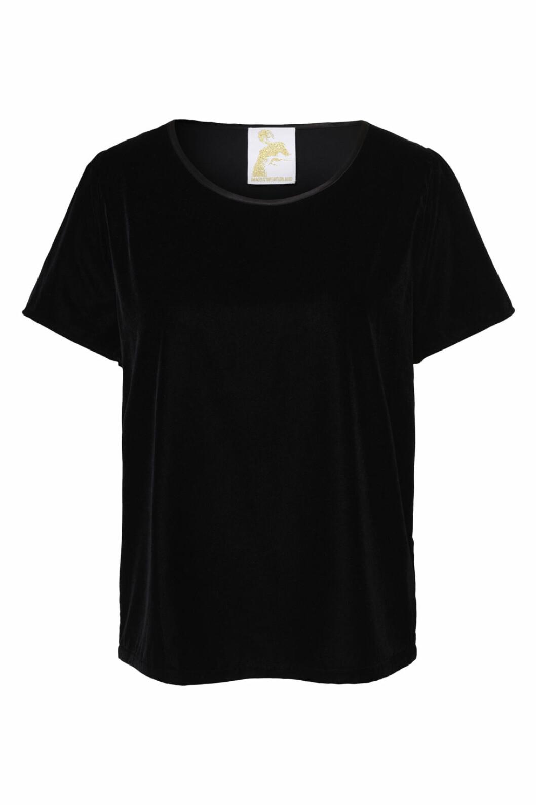Maria Westerlind x MQ sammets t-shirt