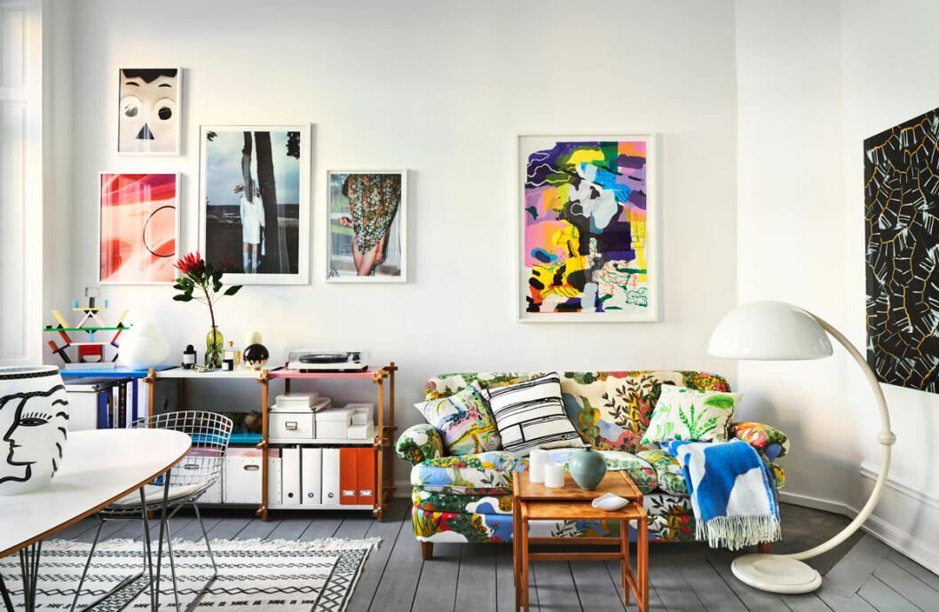 Marie Häger Stockholm vardagsrum svenskt tenn soffa