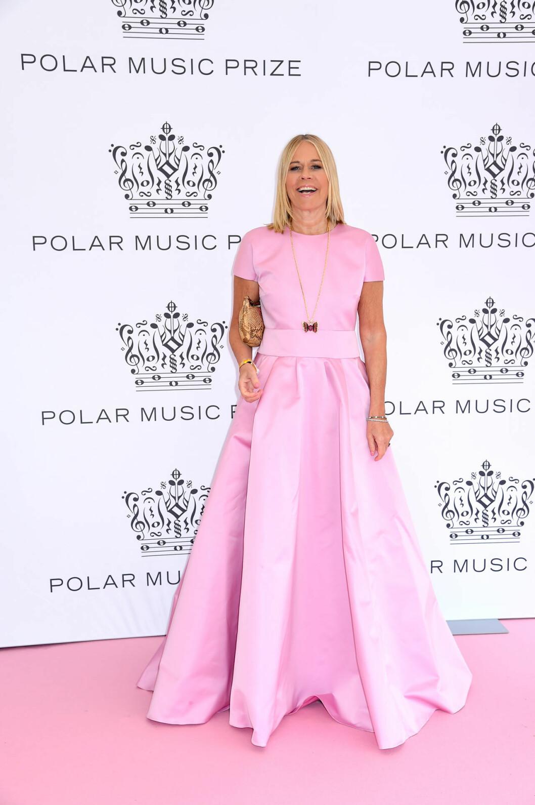 Marie Ledin på rosa mattan på Polarpriset 2019
