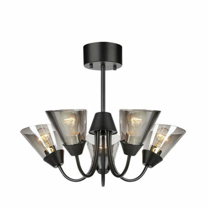Taklampor för dig som har lågt i tak, svart taklampa från Markslöjd