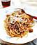 Spaghetti med lammbolognese.