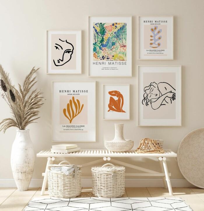 Matisse posters inspiration till tavelvägg