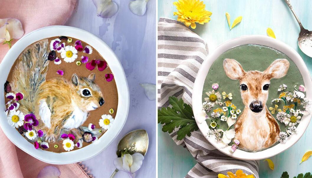 Fantastisk matkonst på smoothiebowls