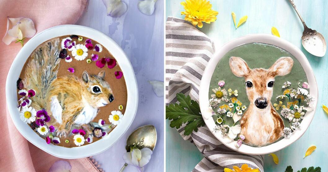 Fantastisk matkonst på smoothiebowlsFantastisk matkonst på smoothiebowls