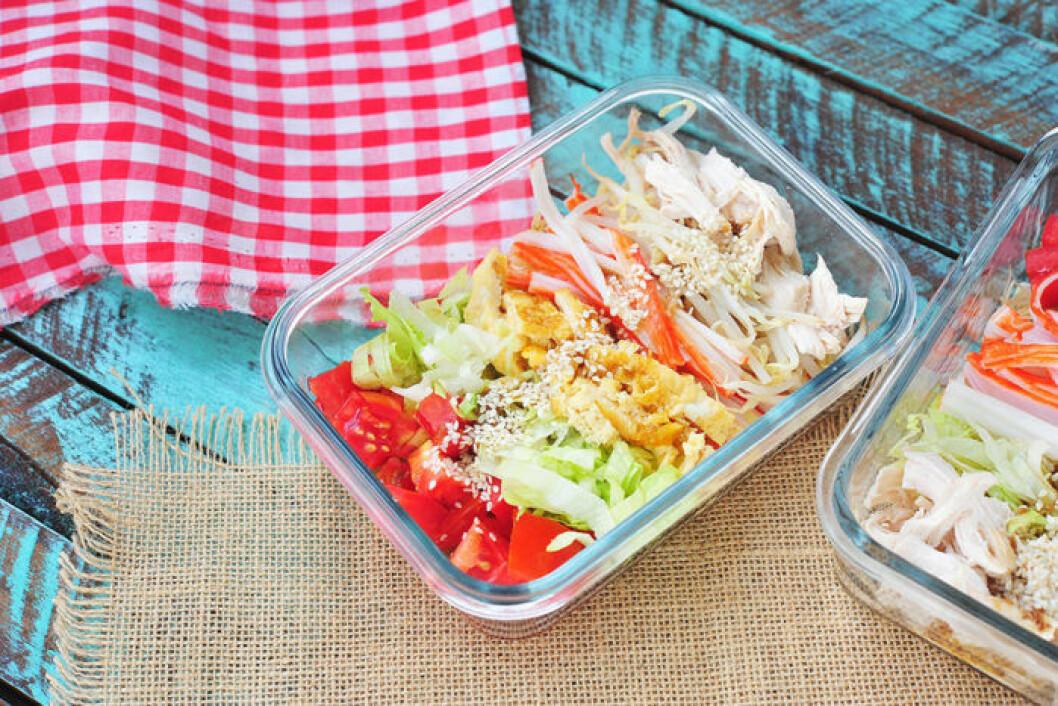 Miljövänlig matlåda i glas.