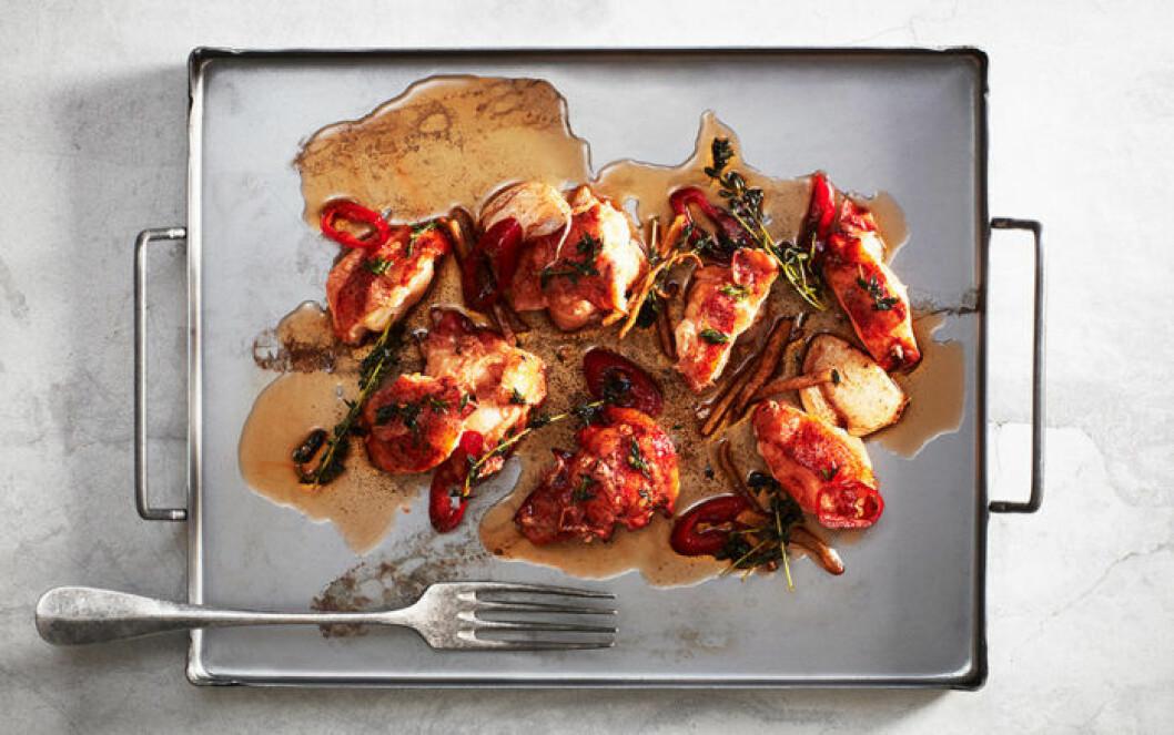 Smörstekt hummer med chili och ingefära.