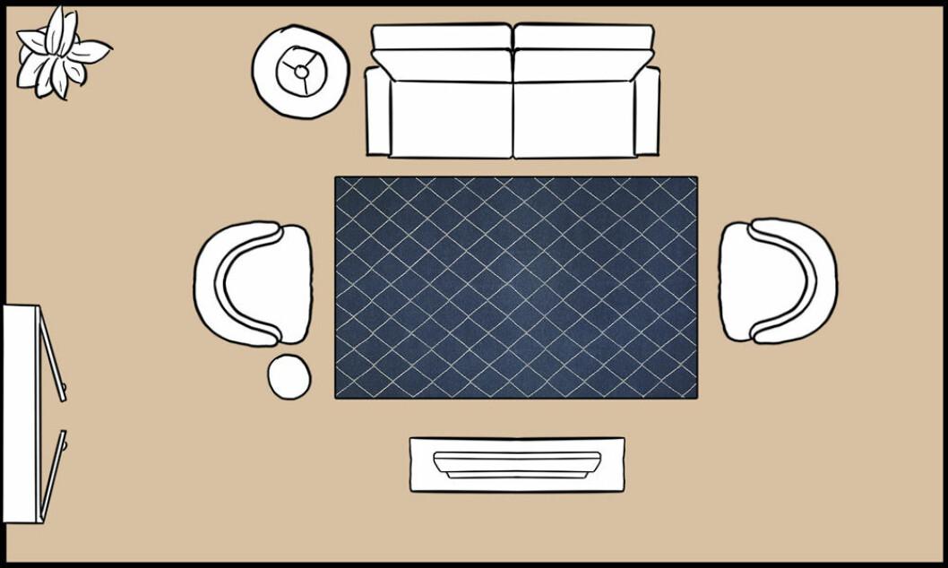 Inga möbler på mattan