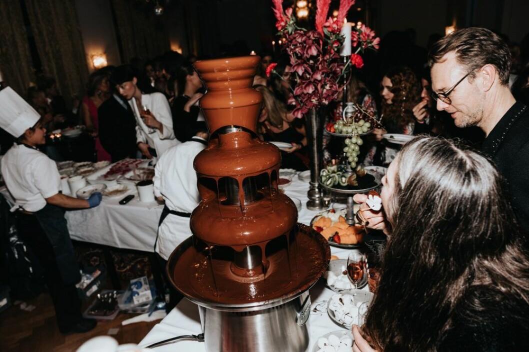 Chokladfontän och glass-station är mattrender från ELLE-galan 2020