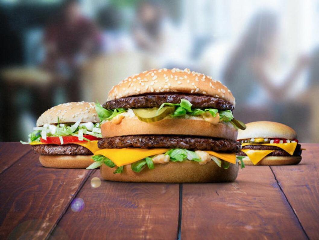 Perfekta hamburgare från McDonald's.