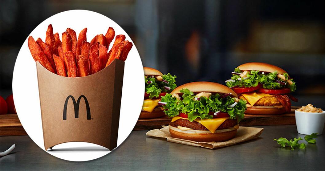 McDonald's börjar med sötpotatis pommes!