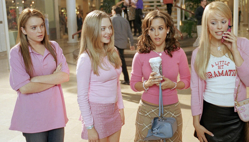 Gruppbild på skådespelarna i Mean girls