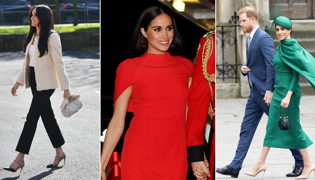 Meghan Markles outfit sista veckan som kunglig.