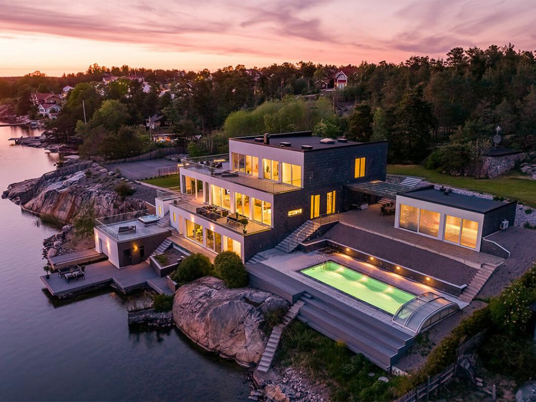 Lyxvilla med egen pool på Hemnets lista över mest klickade 2019