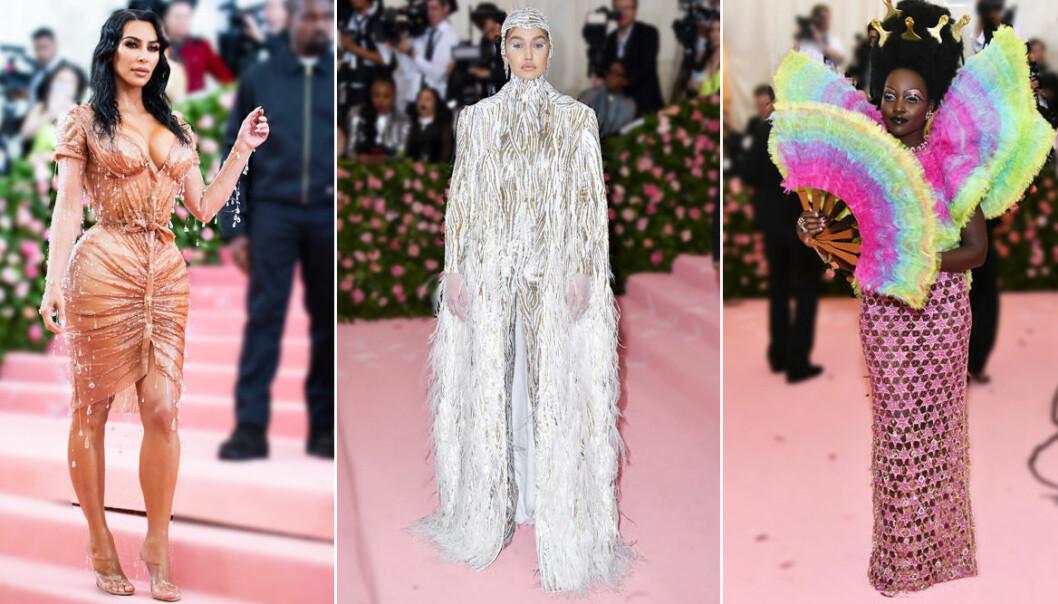 Kim Kardashian, Gigi Hadid och Lupita Nyong'o på Met 2019
