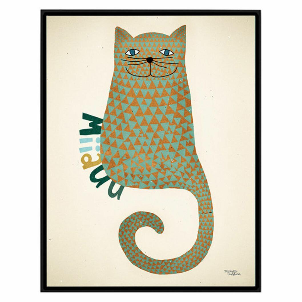 Poster med katt till barnrummet, av Michelle Carlslund
