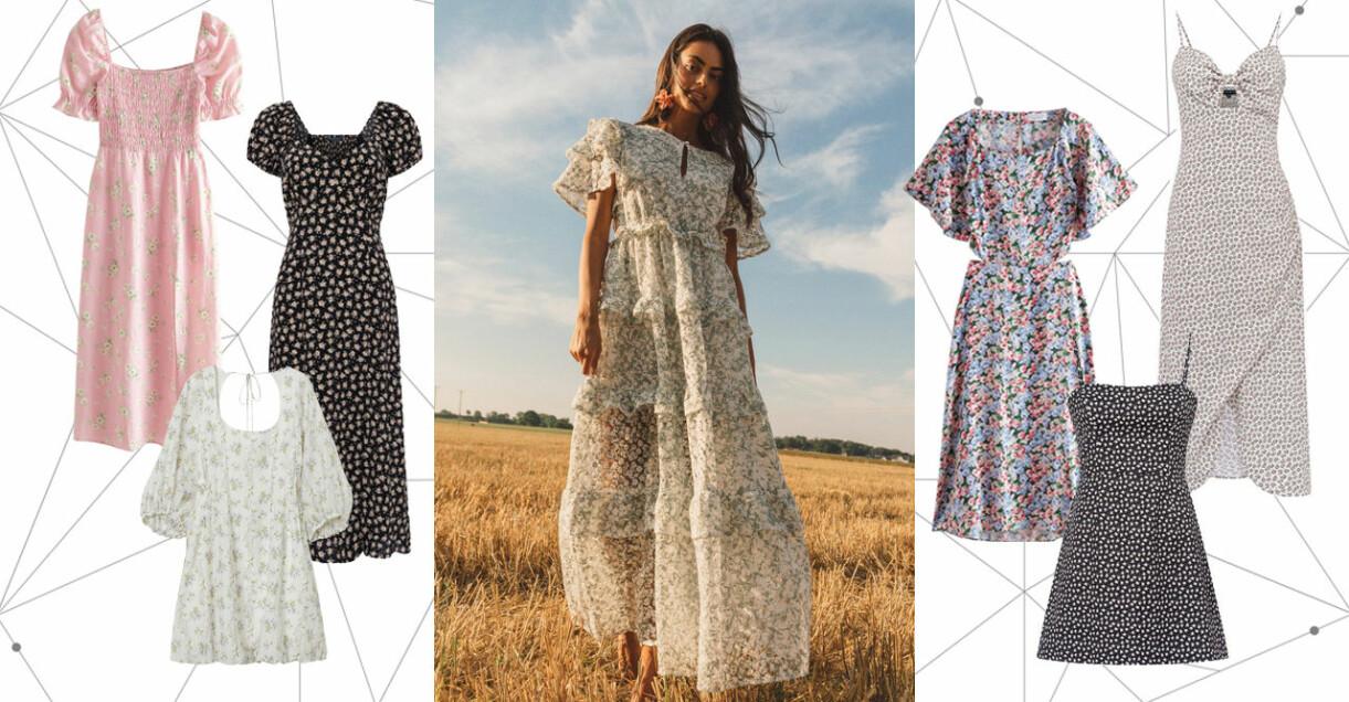 blommiga klänningar till midsommar 2021