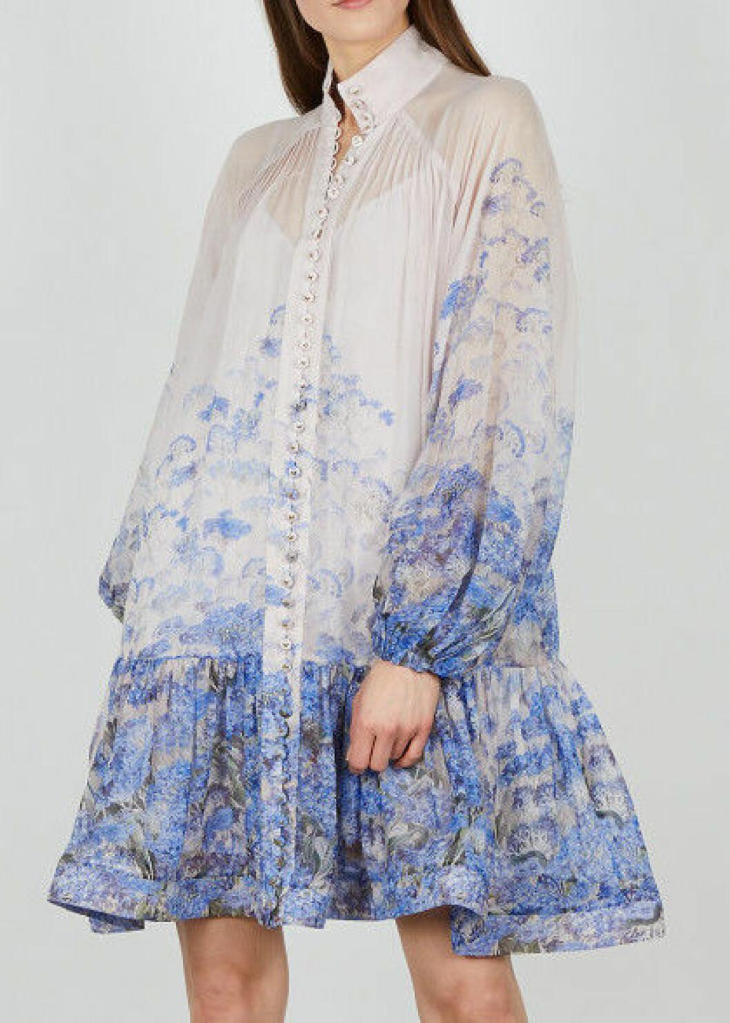 kort blommig klänning från Zimmermann