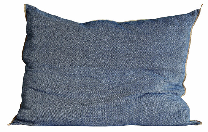 blått kuddfodral