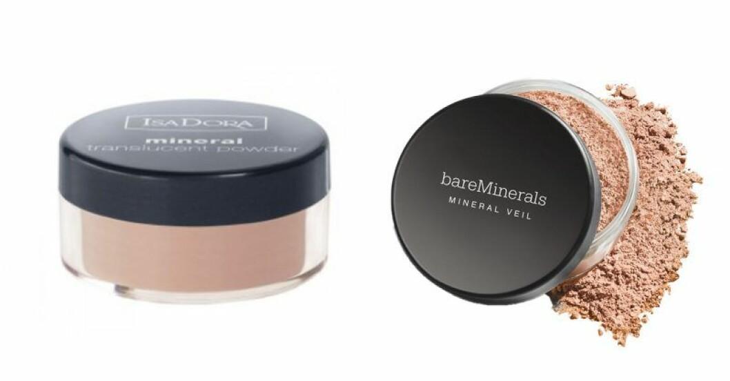 Mineralpuder med olika funktioner