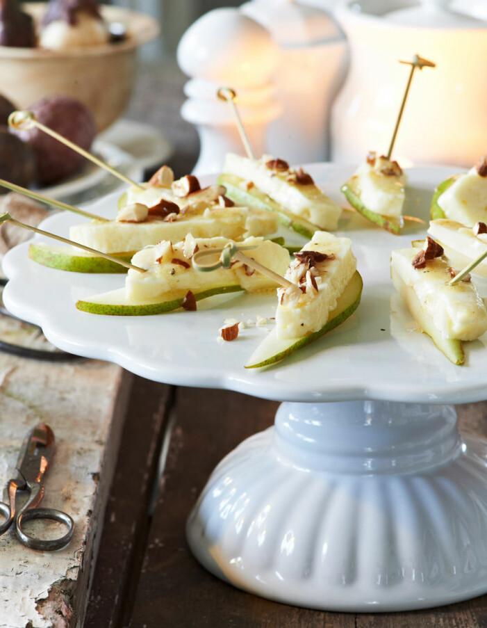 Recept på halloumispett på päron