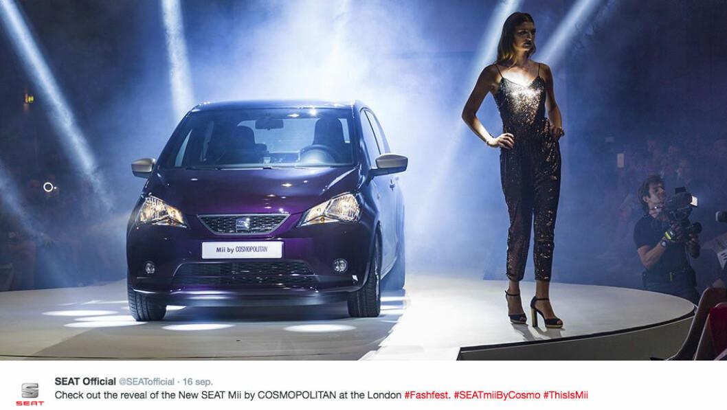 Cosmopolitans tjejbil i samarbete med SEAT.