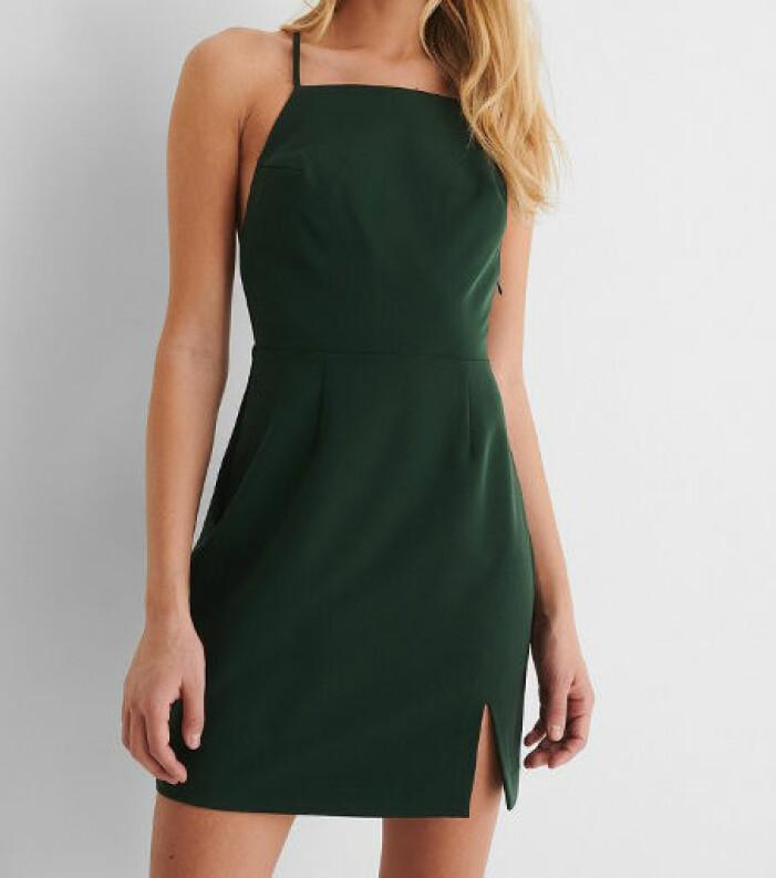 grön miniklänning