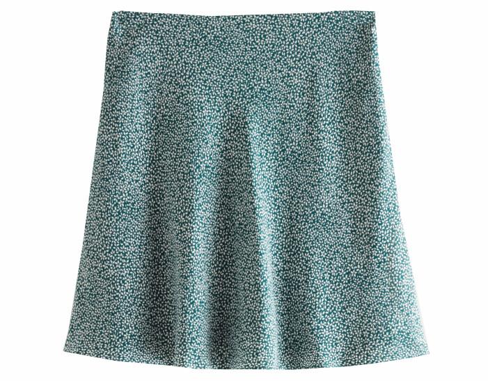 grön mönstrad kjol