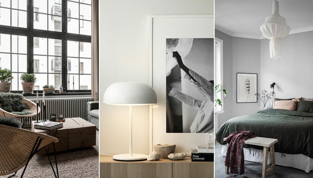 Inred mysigt och minimalistiskt hemma