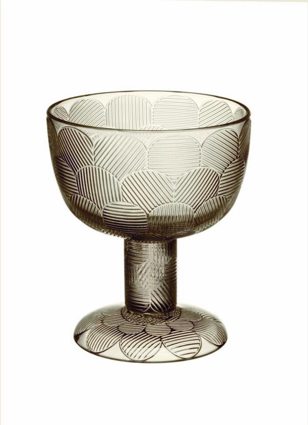 Dessertskålen Miranda från Iittalas serie Linne med iögonfallande mönster och en storlek på 14,5 cm.