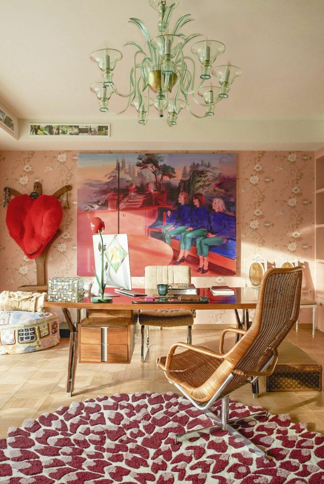 Färgfest på hemmakontoret hos Margherita Missoni