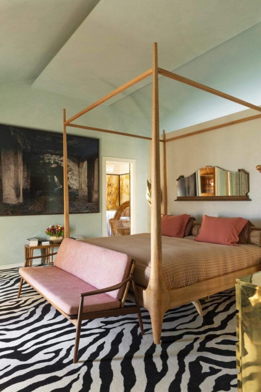 Sovrum i pastelltoner hos Margherita Missoni