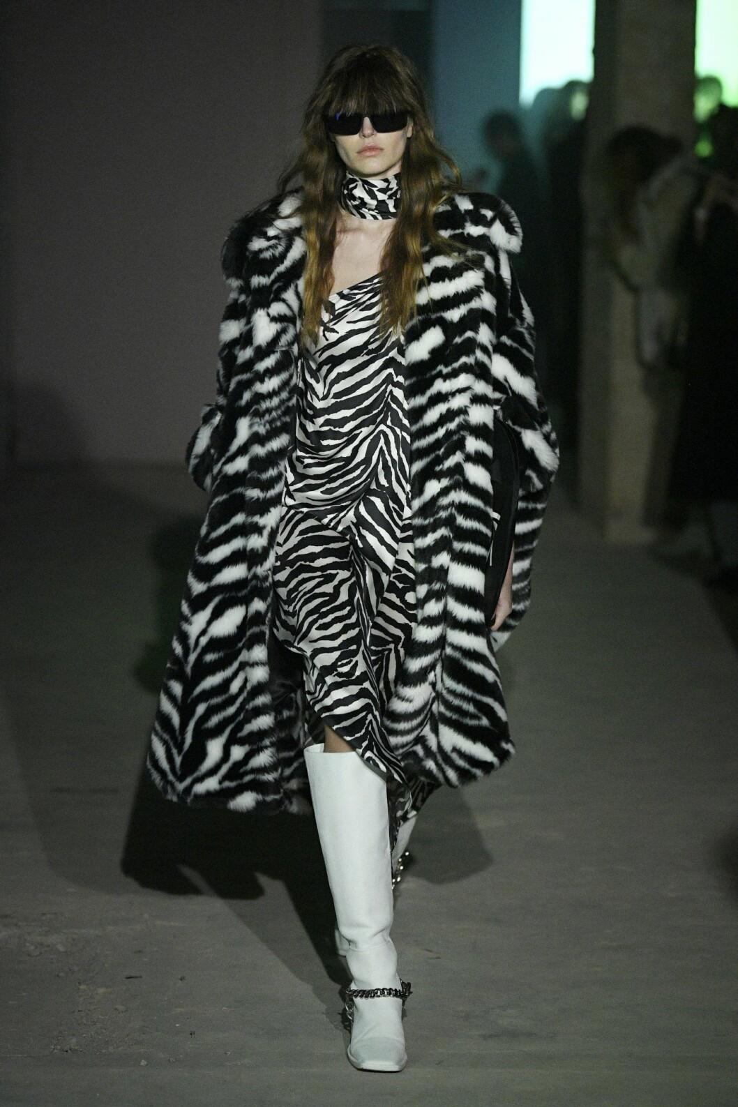 Zebraprint, Zebramönstrad jacka och klänning