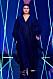 Längre klänning i svart från visningen av årets nykomling Amanda Borgfors Mészáros.