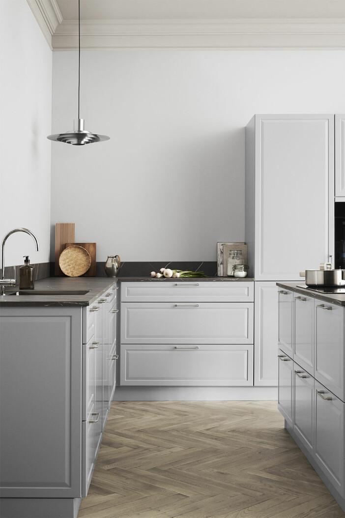 Modernt shakerkök i grått från Kvik