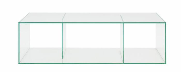 modernt soffbord i glas