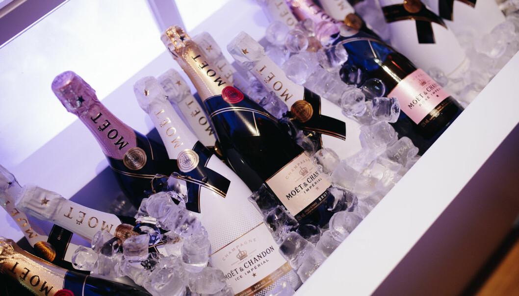 Champagne från Moët & Chandon.