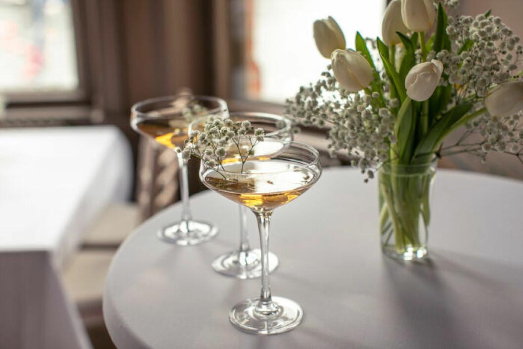 Cocktail Impérial 1869 med Moët & Chandon champagne.
