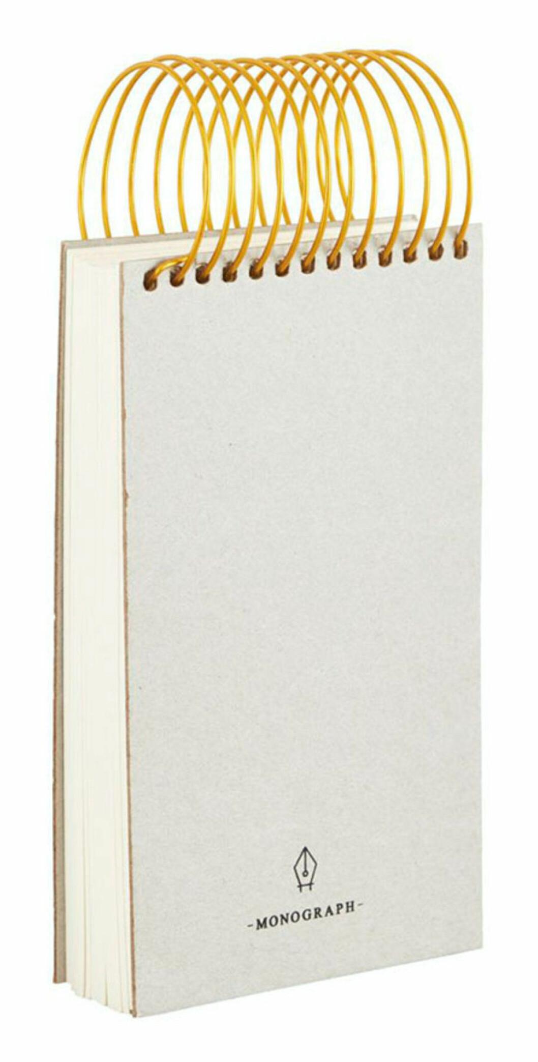 Anteckningsblock från Monograph med spiralformad mässingsbindning
