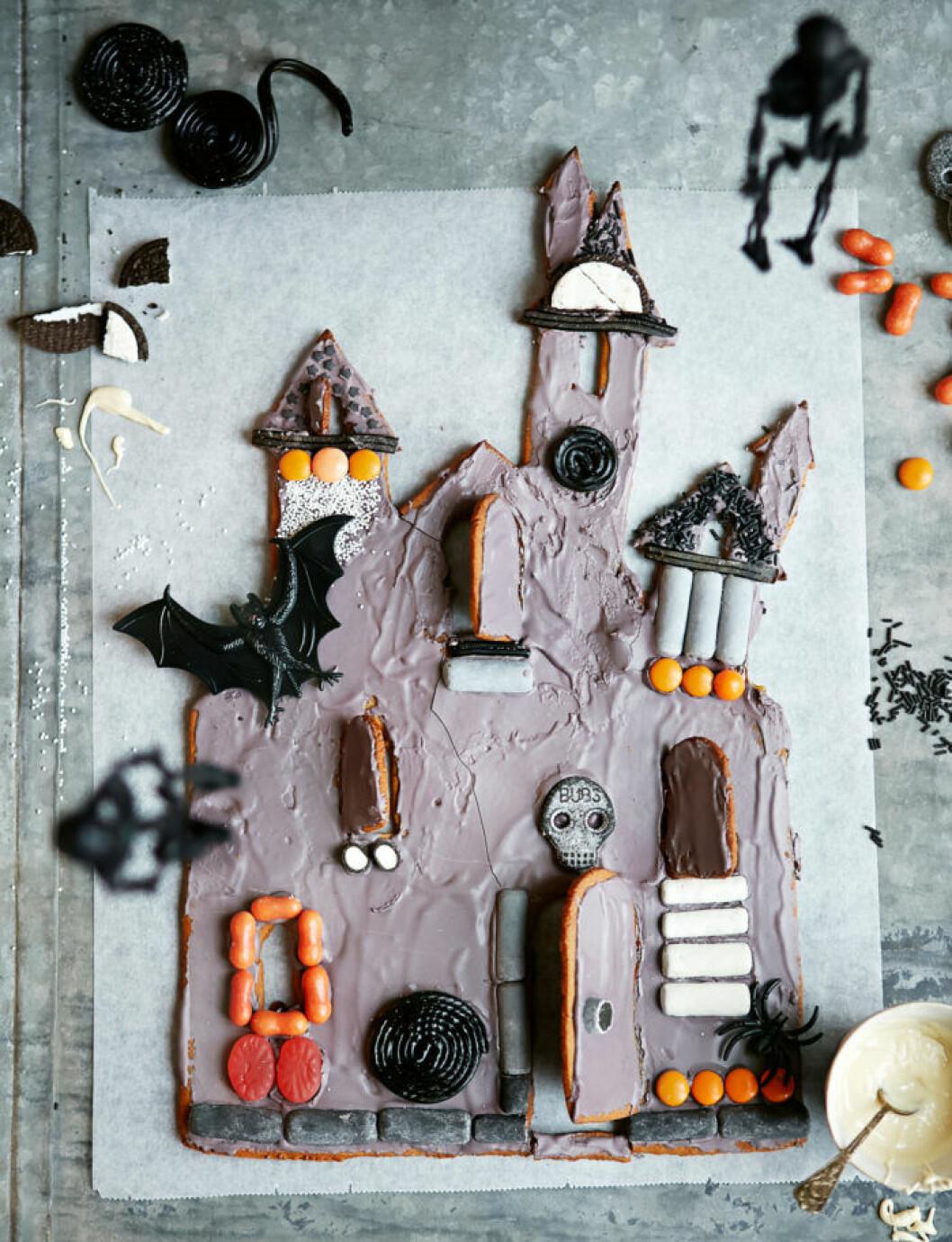 Recept på monsterhus till halloween