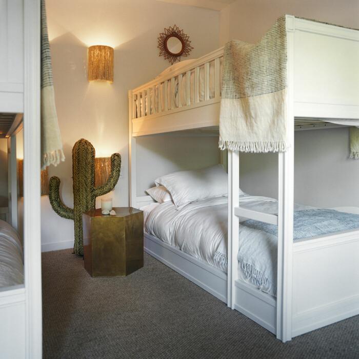 Montauk Long island sommarhus barnens sovrum