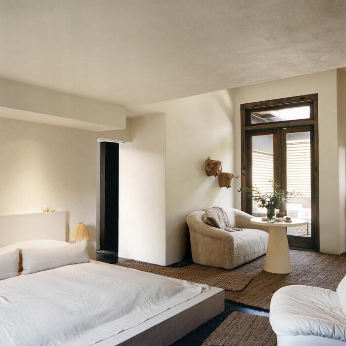 Montauk Long island sommarhus sovrummet